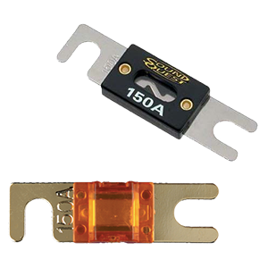 Baomain ANL Fuse ANL-250 250 Amp 250A for Car Vehicles Audio System Sheet Gold Tone 2 Pack