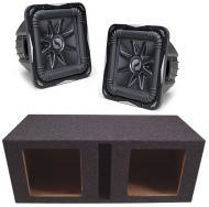 "Kicker Subwoofer Package (2) S15L7 Subs & Vented 15"" Enclosure"