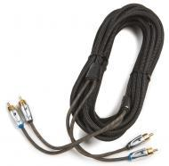 Kicker 09XI25 Car Audio X Series Twisted Pair 5 Meter (16.5 Foot) 2 Channel RCA Interconnect Cable