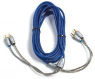 Kicker 09ZI21 Car Audio Z Series Twisted Pair 1 Meter (3.3 Foot) 2 Channel RCA Interconnect Cable