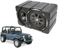 "Jeep Wrangler Kicker CVX10 Loaded Car Audio Custom Fit 10"" Subwoofer Enclosure Box"