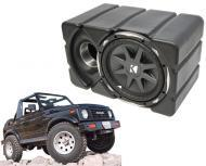 "Suzuki Samurai Kicker CVX10 Loaded Car Audio Custom Fit 10"" Subwoofer Enclosure Box"
