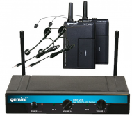 Gemini UHF-216HL Dual 16-Channel Headset & Lavalier Wireless UHF Microphone System