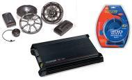 "Kicker Car Stereo KS65.2 Component 6 1/2"" Speakers, DX300.2 Amplifier & Amp Install Kit"