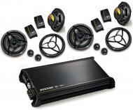 "Kicker Car Audio DX400.4 Amplifier Amp & Two Pairs DS650.2 6 1/2"" Component Speakers Pac..."