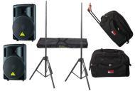 "DJ Package Behringer Pro Audio (2) B212XL Passive 800 Watt 12"" Speakers with Adjustable Stan..."