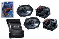 "Kicker Car Stereo (2) 08 KS680 Stereo 6x8"" 5x7"" Door 180 Watt Speaker Pairs, Boss CE404..."