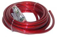 Lanzar LQ44 Contaq 4 Gauge 20' Power Cable & In-Line Fuse Kit