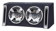 Lanzar VCHB212 Vector 2400 Watts Dual 12' Slim Designed Bass Box Enclosure