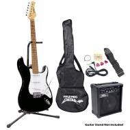 Pyle PEGKT15B Beginner Electric Guitar Package Black