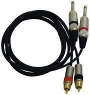 Pyle PPRCJ05 Dual 5ft. Professional Audio Link Cable 1/4' Male to RCA Male