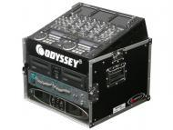 Odyssey Cases FR1006 Flight Ready Mixer Combo 6U Vertical Rack DJ Case