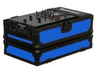 Odyssey Cases FR10MIXBKBLUE Flight Ready Designer DJ Series Case Blue on Black