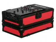 Odyssey Cases FR10MIXBKRED Flight Ready Designer DJ Series Case Red on Black