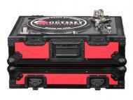 Odyssey Cases FR1200BKRED Flight Ready Designer DJ Series Case for Technics Style Turntables (Red...