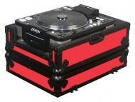Odyssey Cases FRCDJBKRED Designer DJ Series Case for Large Format CD Players (Red)