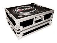 Odyssey Cases FTTXBLK Medium Duty DJ Turntable Case with Stackable Steel Ball Corners (Black)