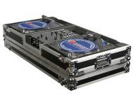 Odyssey Cases FZBM10W Flight Ready ATA DJ Turntable/Mixer Battle Mode Case with Padded Turntable ...