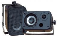 Pyle Home Audio PDWR30B 3.5' Indoor / Outdoor Waterproof Speakers (Black) (Pair)