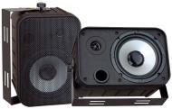 Pyle Home Audio PDWR50B 6.5' Indoor / Outdoor Waterproof Speakers (Black) (Pair)