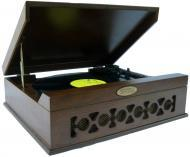 Pyle Home Audio PVNTT6UMT Vintage Style Phonograph/Turntable With USB-To-PC Connection (Dark Maple)