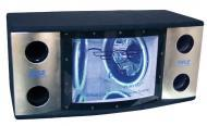 Pyle Car Audio PLBN122 Dual 12' 2 Way 1200 Watt Bandpass w/ Blue Woofer Rings