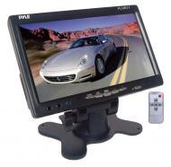 Pyle Car Audio PLHR77 7' Wide Screen TFT LCD Video Monitor w/ Headrest Shroud & Universa...