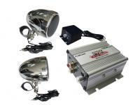 Pyle Audio PLMCA20 100 Watts Motorcycle / ATV / Snowmobile Mount Amplifier with Dual handle-bar M...