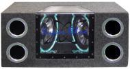 Pyramid BNPS122 Dual 12' 1200 Watt Bandpass Speaker System w/ Neon Accent Lighting