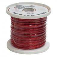Pyramid RPR10100 10 Gauge Clear Red Power Wire 100 ft. OFC