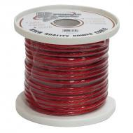 Pyramid RPR8100 8 Gauge Clear Red Power Wire 100 ft. OFC