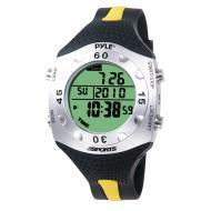 Pyle PSWDV60Y Advanced Dive Meter Watch w/ Water Depth - Temperature - Dive Log - Auto EL Backlight