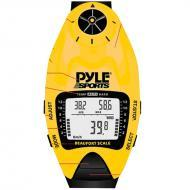 Pyle PSWWM90Y Wind Speed Meter w/ Wind Chill Temp., Altimeter, Barometer, Compass, 10 Laps Chrono...