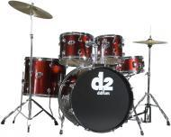 Ddrum D2 Beginner Complete 5 piece Drum Set - Blood Red Color D2BR (D2 BR)