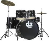 Ddrum D2 Beginner Complete 5-piece Drum Set - Midnight Black Color D2MB (D2 MB)