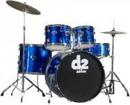 Ddrum D2 Beginner Complete 5-piece Drum Set - Police Blue D2PB (D2 PB)