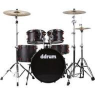 Ddrum 6 Piece Hybrid Acoustic Drum Kit w/ Black & Red Finish (HYBRID 6 BLK/RED)