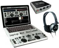 Numark DJ2GO Pro Audio DJ MIDI Music Controller, Dj iO Laptop Audio USB Interface & Headphones
