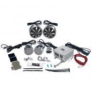 Pyle PLMCA98 600 Watts Motorcycle ATV & Snowmobile Mount 4 Channel Amplifier w/ Handlebar Mou...