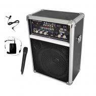 Pyle Pro Audio PWMA170 Dual Channel 400 Watt Wireless PA System w/ FM Radio,USB/SD/MP3 Includes 2...