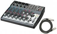 Behringer 1202 Pro Audio DJ Live Sound 12 Channel Mixer with $25 XLR Cable Package