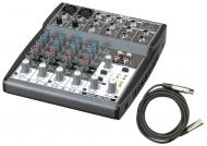 Behringer 802 Pro Audio DJ Live Sound 8 Channel Mixer with $25 XLR Cable Package