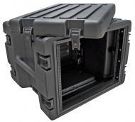 SKB Cases 1SKB-R8W 8U Roto Molded Rolling Rack Case with In-Line Wheels (1SKBR8W)