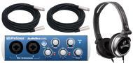 PreSonus AudioBox 22VSL Pro Audio 2CH USB 2.0 Computer Recording System with $50 XLR Cables &...