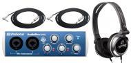 PreSonus AudioBox 22VSL Pro Audio 2CH USB 2.0 Computer Recording System with $50 TRS Mic Cables &...