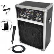 "Pyle Pro Audio DJ PWMA170 Battery Powered Dual Wireless Mic 6"" PA Speaker with 1/4"" Cable"