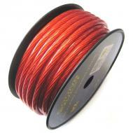 Sound Quest SQVLP8R Value Series 8Ga CCC Power Wire  Matte Red 250 Ft Spool
