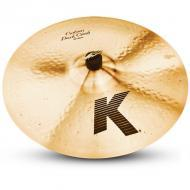 "Zildjian K0953 18"" K Custom Series Dark Crash Thin Drumset Cast Bronze Cymbal with Low Pitch"