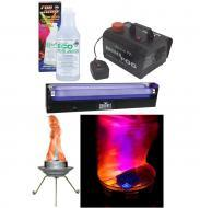 """Halloween Party Package Bob LED Fire Flame Simulated Light, 18"""" Blacklight Tube & Mini F..."""