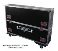 Gator Cases G-TOURLCDV2-3743-X2 G-TOUR case designed to easily adjust and fit two LCD, LED or pla...